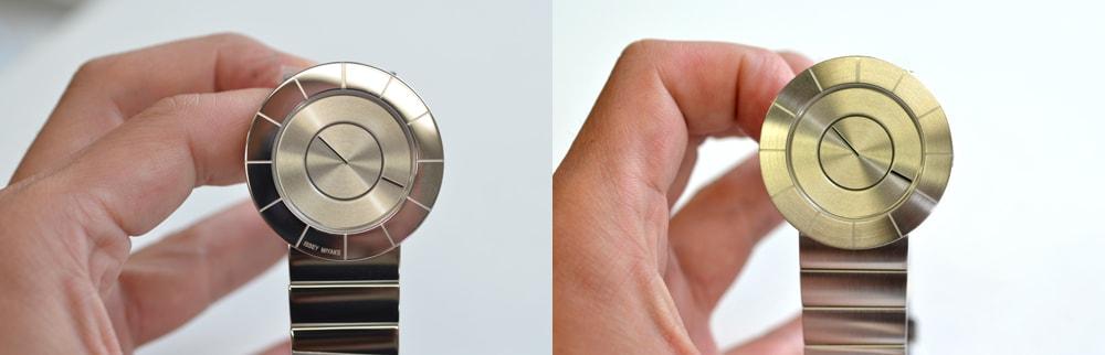 イッセイミヤケTOのへアラインと鏡面の比較
