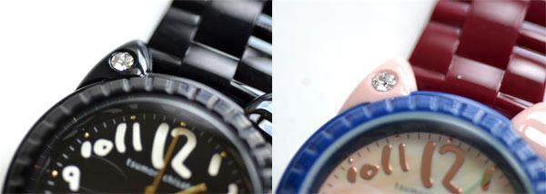 ツモリチサトの時計ビックキャット、カラー、ブラック