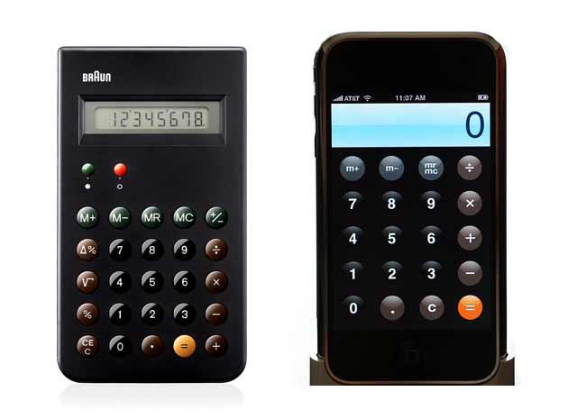ブラウンの電卓とアップルの電卓