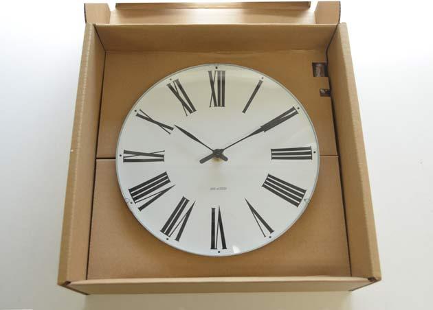 Roman Clockアルネ・ヤコブセンの壁掛け時計ローマン クロック の評価大きさ