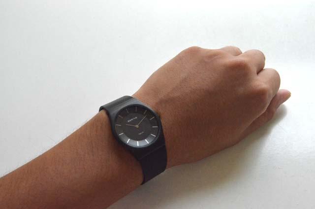 ベーリングの時計、ブラック薄い付け心地11935-222
