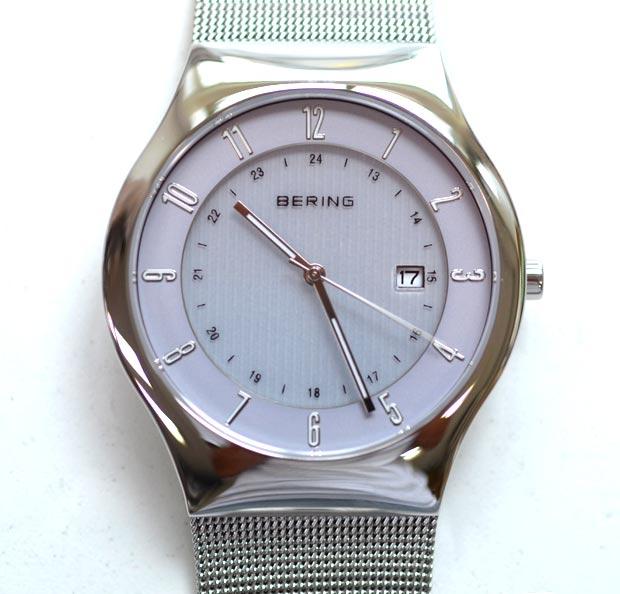 beringベーリングのソーラー腕時計ラベンダー14440-004
