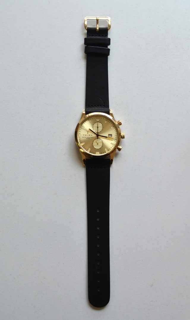 TORIWAのゴールドの時計ベルト交換