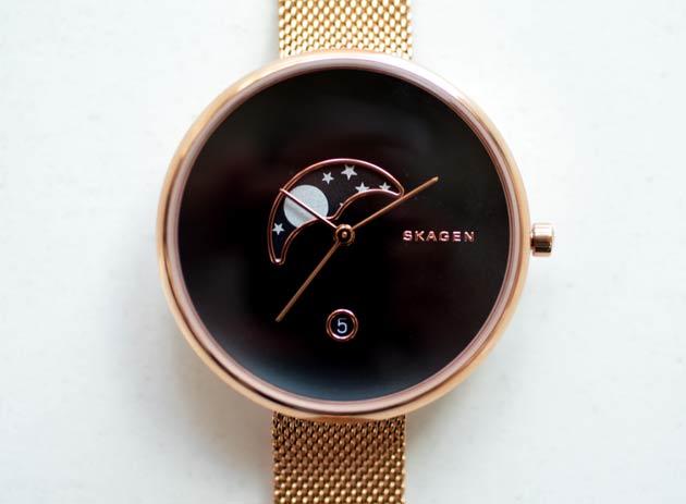 スカーゲン月の時計GITTE、skw2371