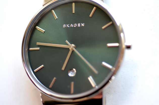 スカーゲンSKAGENのグリーン、緑のモデル