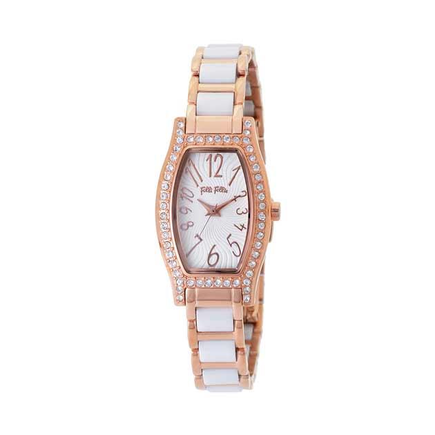 フォリフォリのピンクゴールドの時計