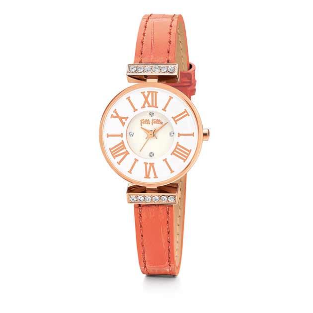 フォリフォリの時計ピンクゴールド