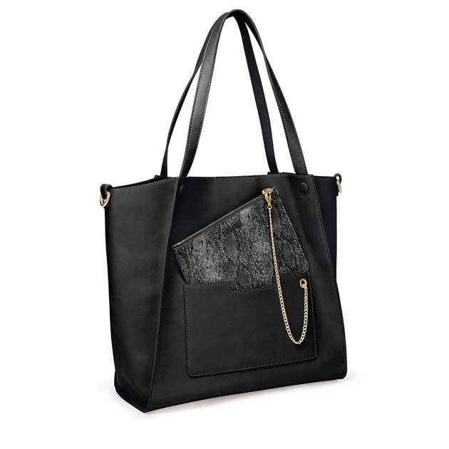 フォリフォリ 黒のバッグ ON THE GO BAG