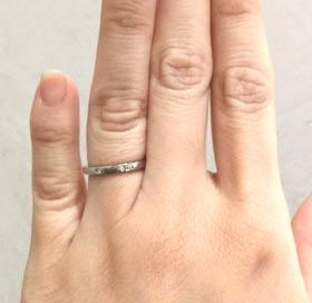カルティエ 結婚指輪 バレリーナカーブ(プラチナ3ダイヤモンド)