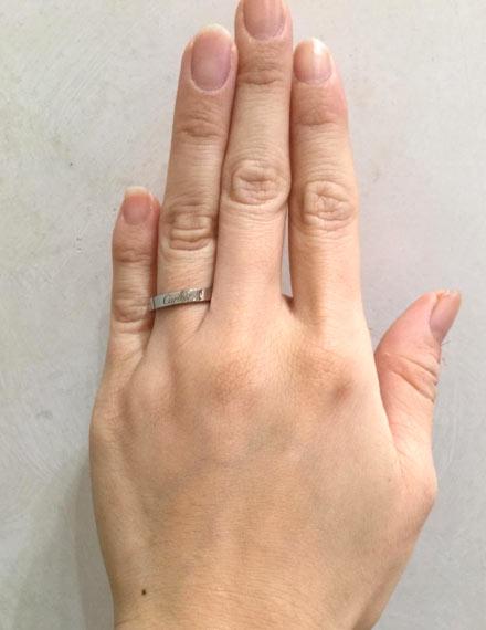 カルティエ 結婚指輪 エングレーブドウエディングリング(プラチナ)