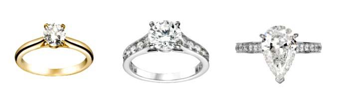 カルティエ 婚約指輪 ソリテールリング