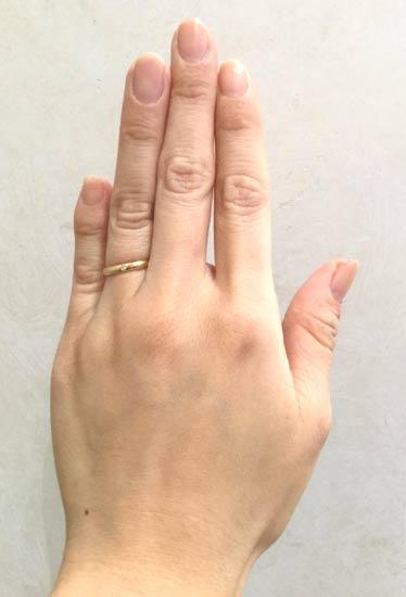 カルティエ 結婚指輪 ウエディングリング(18金イエローゴールド1ダイヤモンド)