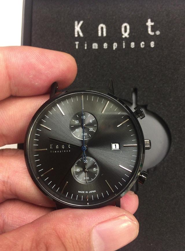 ノットの時計クロノグラフのブラック