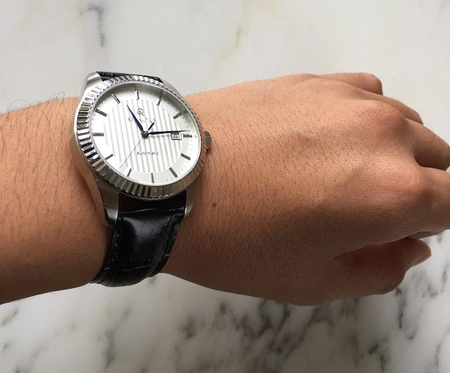 ルノータスの時計クラシックホワイト