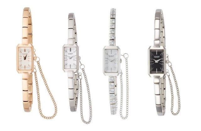 キャサリンハムネットの華奢な時計レクタングル