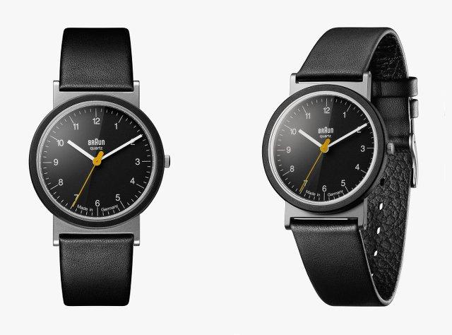 ブラウンの腕時計ブラック