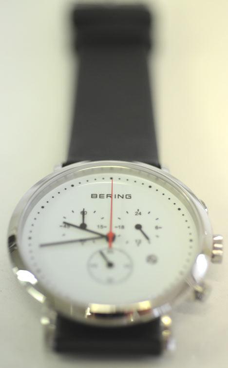 ベーリングの時計クロノグラフ