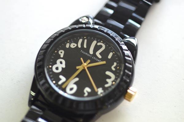ツモリチサトの時計ブラック