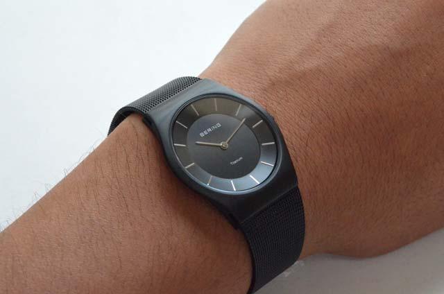 ベーリングの時計、ブラック薄い11935-222