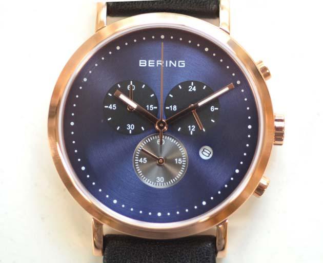 ベーリングのシンプルなクロノグラフ10540-567