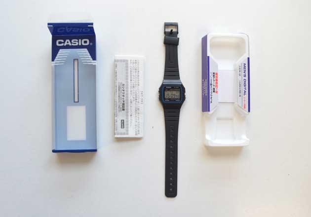 ビンラディンモデルの時計カシオF-91W