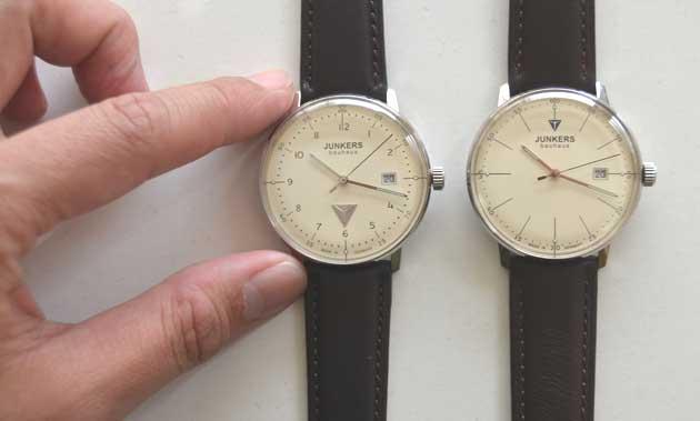 ユンカースJUNKERSバウハウスの時計の大きさ評価