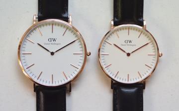 ダニエルウェリントンDanielWellingtonの時計大きさの比較36mm40mm