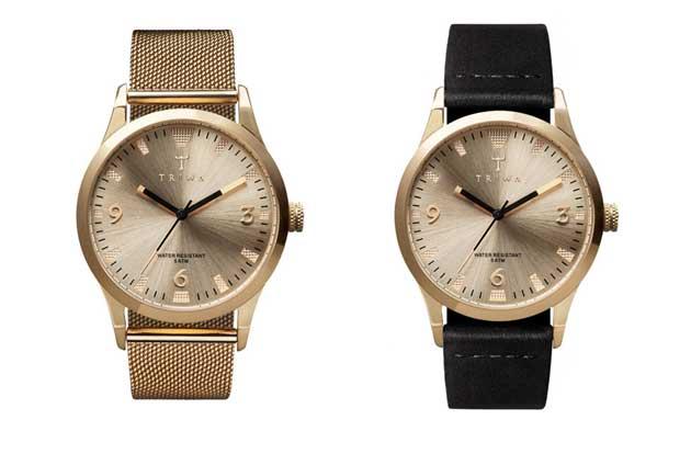 TRIWAの時計ランセン金ゴールド