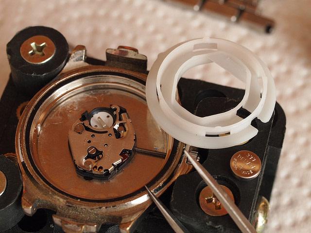 電池式の時計オーバーホール