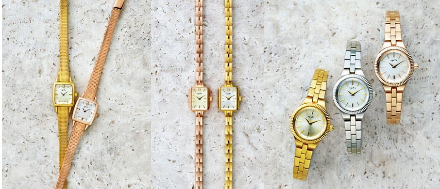 ピンクゴールド 時計 アガット