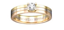 カルティエ 3ゴールド 婚約指輪