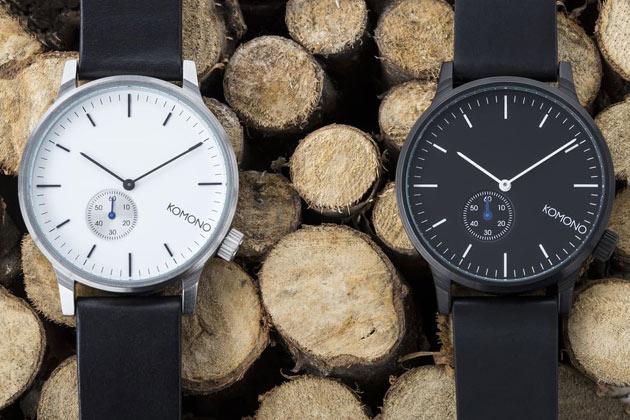 komonoの時計白と黒