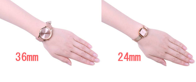 komonoの時計レディース時計サイズ
