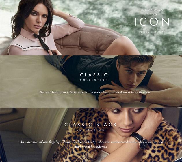 ダニエルウェリントンのモデルのローラ、ケンダル・ジェンナー、ラッキー・ブルー・スミス
