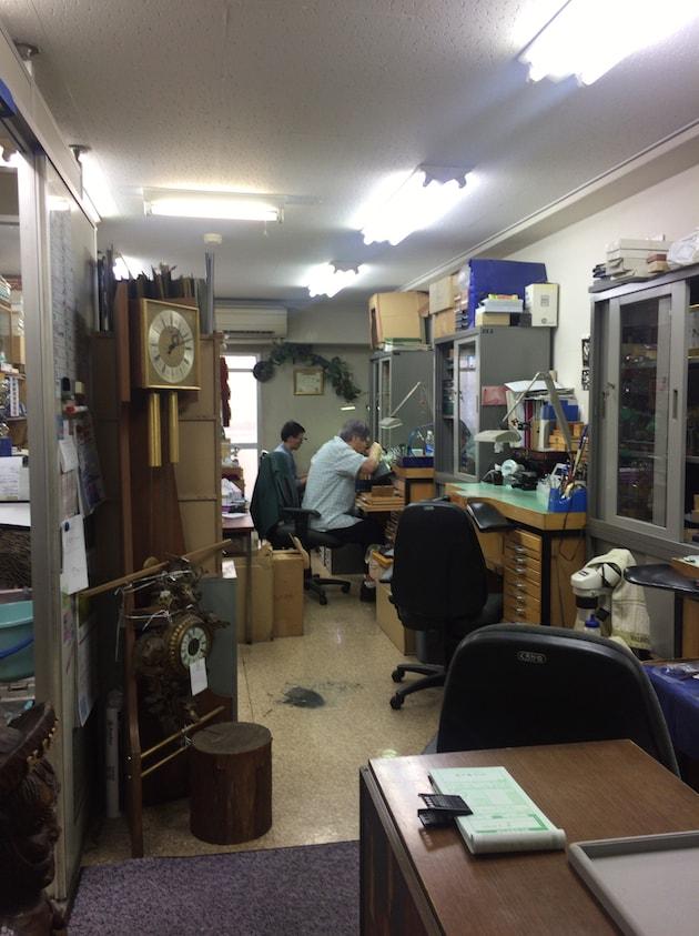 アトリエキノコ時計のオーバーホール東京御徒町