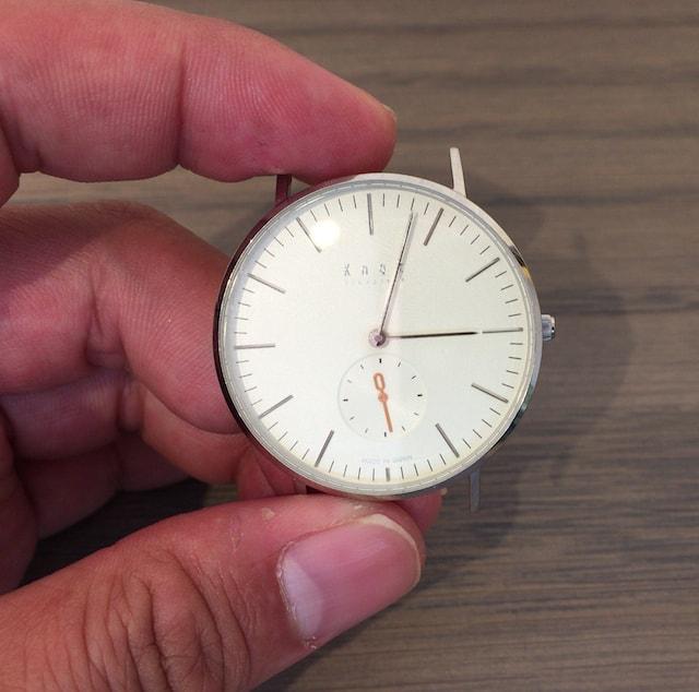 ノットの時計スモールセコンド