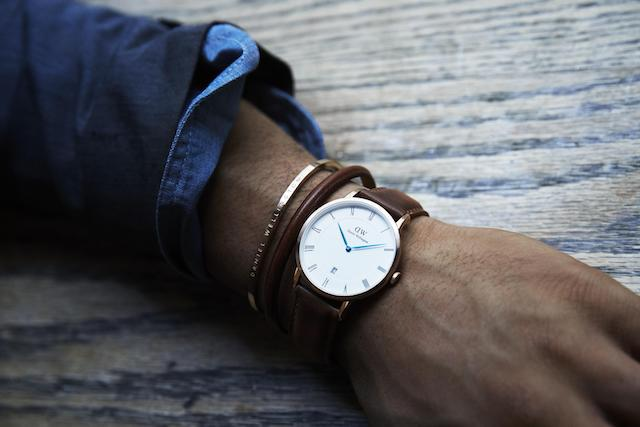 ダニエルウェリントン 時計とバングル 男性
