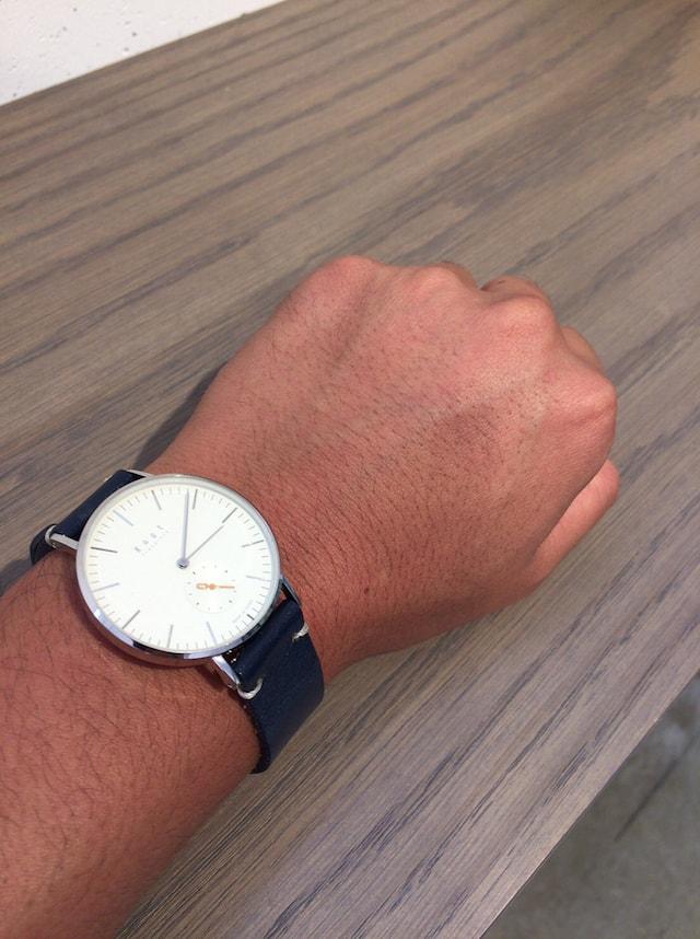 ノット 腕時計 スモールセコンド 男性
