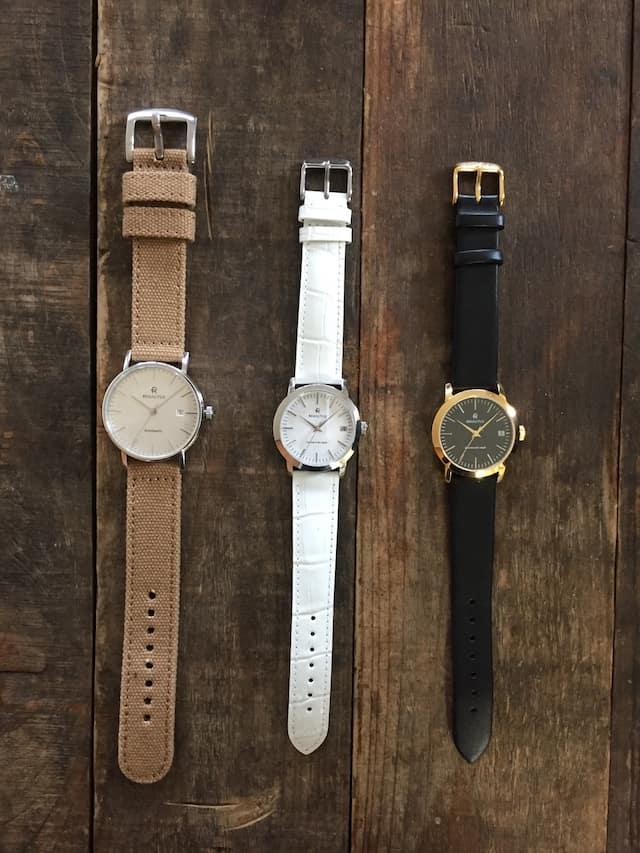ルノータス レディース時計 3本比較