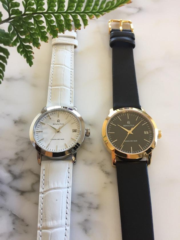 ルノータスの時計ベーシックの時計白と黒