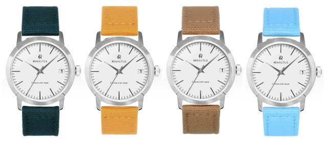 ルノータスの時計キャンバスベルト4種類