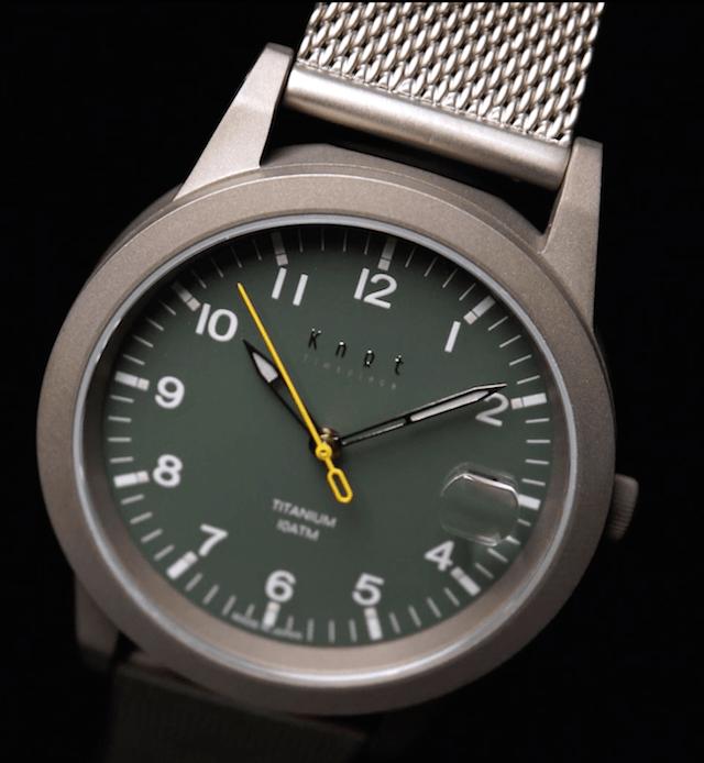 ノットのソーラー時計TS-36(チタニウム)の評価や口コミ