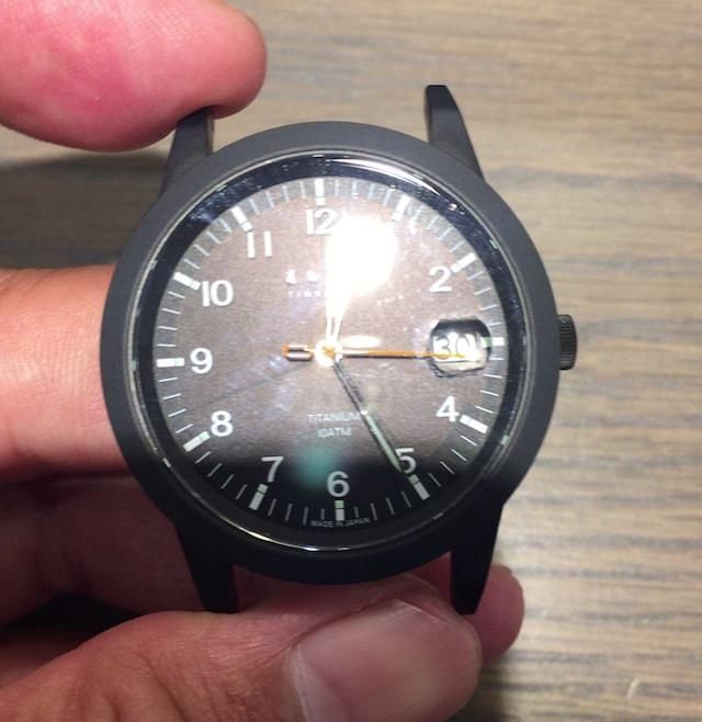 ノットの時計チタニウムソーラー ブラック