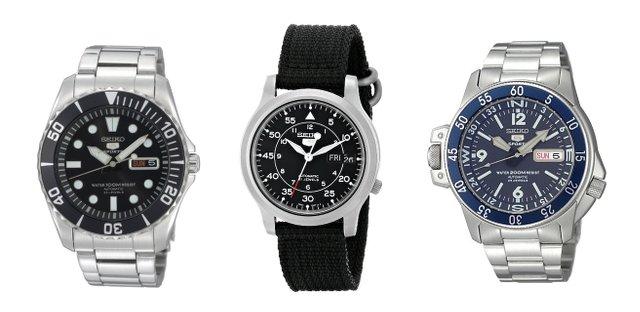 セイコー5機械式時計シルバー