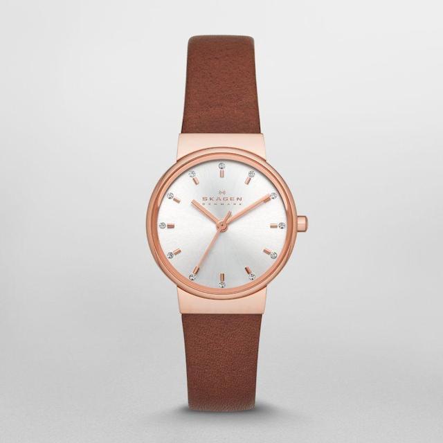 スカーゲンのピンクゴールドで華奢な時計Ancher(アンカー)のSKW2260