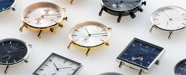 ノットのビジネスマン向けの時計