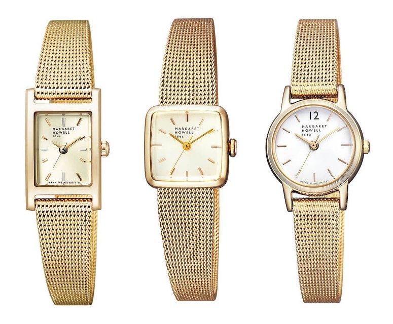 マーガレットハウエルの華奢な時計