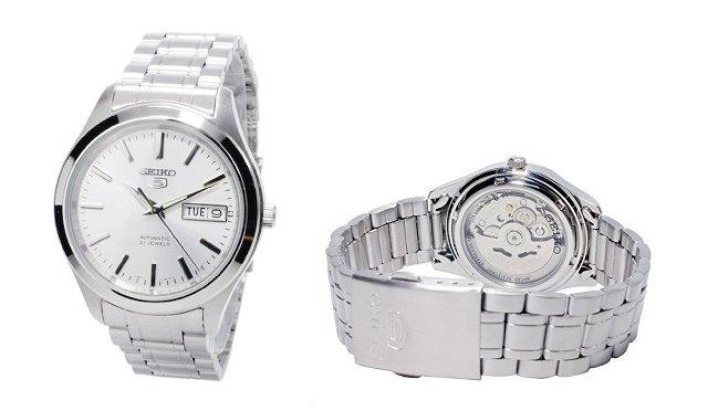 ビジネス時計セイコー5のホワイト