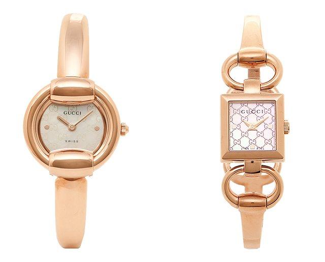 グッチのピンクゴールドの時計