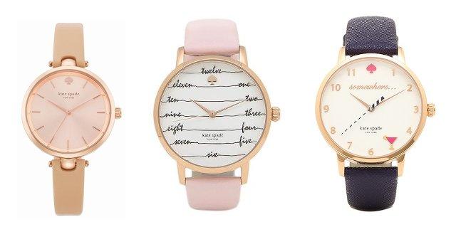ケイトスペードのピンクの腕時計